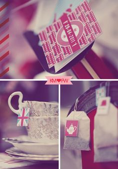 free printables tea bag hang cards with union jack and underground logo and double decker buses!Nx