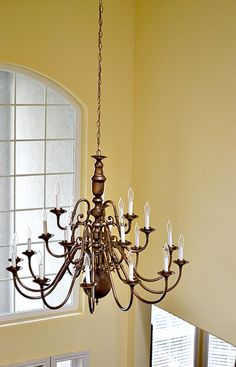 Painted chandelier sleeves bloggers best diy ideas pinterest brass chandeliers makeover aloadofball Gallery