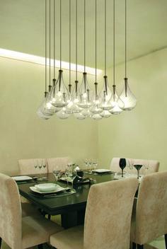 lámpara colgante Gota 16, de Acqualuce - Comedor