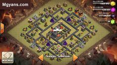 TH9 War Base Layout 3  Deceiving Design  Clash of Clans
