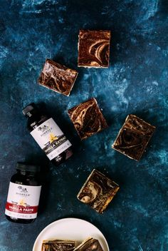 chocolate bourbon vegan cheesecake squares