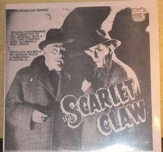Sherlock Holmes The Scarlet Claw Original Performance With Basil Rathbone & Nigel Bruce Sealed Record Album by RASVINYL on Etsy
