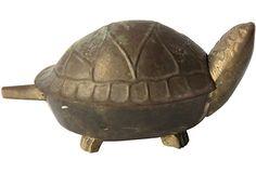 #designisneverdon Brass Turtle Treasure Box on #OneKingsLane for a Boy's Room