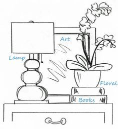How to style end tables/nightstands. Rooms - Celebration of Delightful Spaces