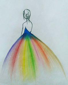 Fashion Drawings - - Fashion Drawings – - - Fashion Show Girl Drawing Sketches, Girly Drawings, Art Drawings For Kids, Art Drawings Sketches Simple, Pencil Art Drawings, Colorful Drawings, Oil Pastel Art, Art Drawings Beautiful, Color Pencil Art