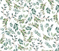 Branches Fabric - Wild At Heart Branches / White By Shopcabin - Branches Green Botanical Green Cotton Fabric By The Metre by Spoonflower Baby Crib Sheets, Baby Girl Bedding, Floral Crib Sheet, Tropical Nursery, Stoff Design, Floral Bedding, Minky Fabric, Custom Wallpaper, Wild Hearts