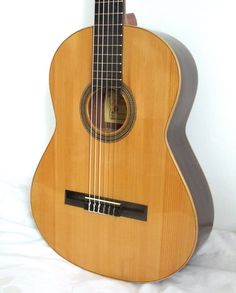 Alhambra vintage classical guitar all solid Spruce top hand made in Spain Classical Guitars, Guitar Neck, Natural Wood Finish, Aging Wood, Hand Shapes, Some People, 1960s, Spain, Old Things