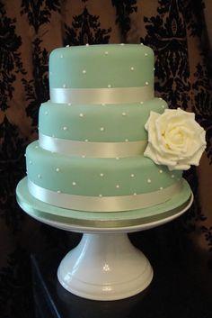 Wedding Cake Pearl and Vintage Sage Green