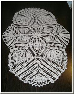 pattern for doily Crochet Dollies, Crochet Potholders, Crochet Table Runner, Crochet Tablecloth, Free Crochet Doily Patterns, Crochet Designs, Thread Crochet, Knit Crochet, Pineapple Crochet