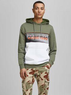 Vertical Striped Shirt, Vertical Stripes, Jack Jones, Hoodies, Sweatshirts, Latest Fashion Trends, Kangaroo, Hooded Jacket, Pocket