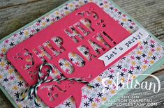 nice people STAMP!: Party With Cake Pop-Up Birthday Card