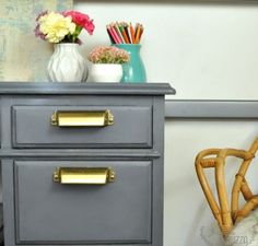 Paint a vintage desk with the Super Finish Max HVLP paint sprayer | HomeRight