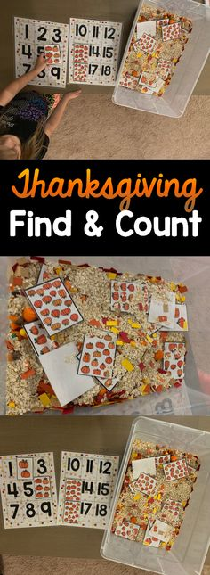 Thanksgiving Find and Count Sensory Math