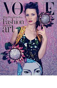 Favourite Vogue Australia cover - March 2014.  For her final issue Vogue's creative director Jillian Davison was inspired to work with Australian artist Del Kathryn Barton, set designer Alice Babidge and photographer Emma Summerton