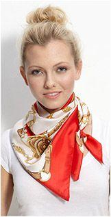 how to tie silk scarf around neck Ways To Wear A Scarf, How To Wear Scarves, Silk Neck Scarf, Scarf Knots, Weekly Outfits, Neck Scarves, Tie Scarves, Square Scarf, Scarf Styles