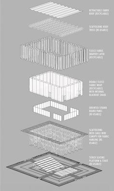 Gallery of Willow Theater / Tim Lai Architect + Brad Steinmetz Stage Design - 16 design concept design residential studio design architecture Theater Architecture, Architecture Graphics, Architecture Board, Architecture Drawings, Concept Architecture, Architecture Details, Kinetic Architecture, Public Architecture, Gropius Bau