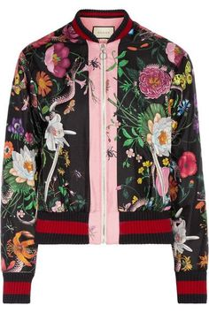 77cf4ded805 Gucci - Printed silk-satin bomber jacket