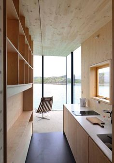 Manshausen Island resort is a Product Launch Venue in Nordland, Norway. See photos and contact Manshausen Island resort for a tour. Plywood Interior, Home Interior, Interior Architecture, Interior Design, Home Design, Contemporary Cabin, Timber Cabin, Boutique Homes, Island Resort