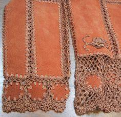 Boho suede and crochet jacket 1970s ladies от CinnamonGirlStuff