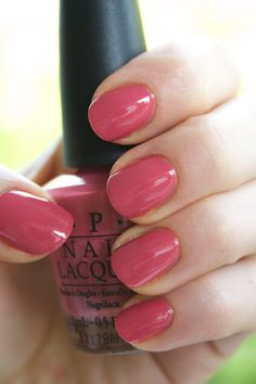 OPI My Address is Hollywood A fun bright pink. A little too deep to be bubblegum, but not dark. Opi Colors, Manicure Colors, Manicure Ideas, Pedicure, Nail Ideas, Opi Nail Polish, Nail Polish Designs, Opi Nails, Nail Polishes