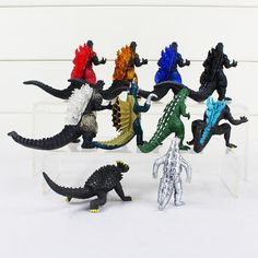 10 pcs Godzilla Monsters Mechagodzilla Trendmaster Gigan Anguirus Action Figure  #Unbranded