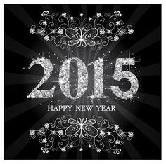 Fondo del año 2015 con estrellas, aquí lo tienes gratis en formato vectorial y Photoshop por capas y en alta resolusión, para calendarios y Año Nuevo.