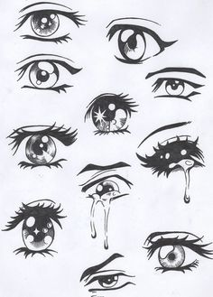 Simple eyes that will help over dramatize a face to bring out emotion. . . these are mostly used on Anime characters.