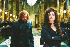 Ron...you nevah looked bettah.  Belatrix...creepy as oolways.