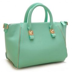 $21.10 Gorgeous Women's Tote Bag With Zipper and Solid Color Design