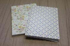 Material escolar: libretas forradas con papel estampado