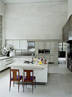 A look at kitchens photographed in Vogue.