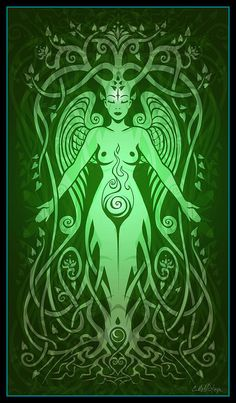 Divine Life Digital Art  - Divine Life Fine Art Print by artist Cristina McAllister  I found Christina on Fine Art America - she has an entire series of Goddesses in a similar style with different colors.  She does beautiful work.