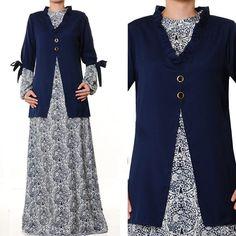 US$ 28 FREE SHIPPING WORLDWIDE!! Fashion Islamic Ladies Abaya 2 Piece Batik Print Dress S/M by MissMode21