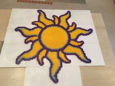 Tangled Sun perler beads  by Szilvi