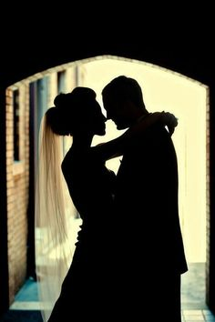 A beautiful and romantic silhouetted shot for the big day.
