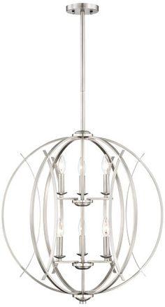 Brushed Nickel Spherical Modern Pendant Light Possini Euro Design http://www.amazon.com/dp/B007TV247K/ref=cm_sw_r_pi_dp_Xxggvb04YWJHV