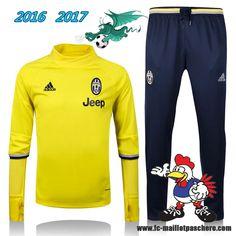 Serie A : Survetement Foot Juventus Jaune 2016 2017 - Homme Kits Pas Chere