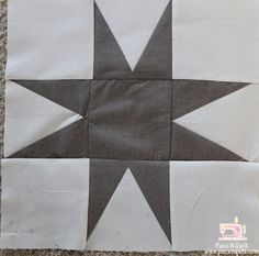 "Eight Pointed Star Cutting:  From your background fabric cut 4 - 4 1/2""x4 1/2"" squares 4 - 4 7/8""x4 7/8"" squares From your dark print cut 1 - 4 1/2""x4 1/2"" square 4 - 5 3/8""x2 3/8"" rectangles"