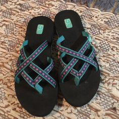 Teva women's flip flops  size 8 Great shoes. Great shape Teva Shoes Sandals