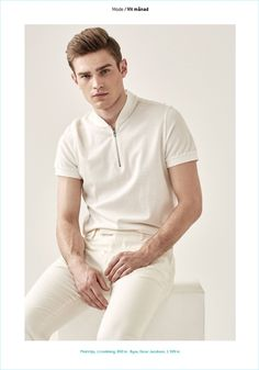 White Month: Bo Develius Dons White Fashions for King Editorial