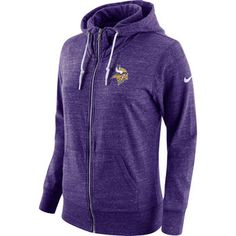 Nike Minnesota Vikings Women's Purple Tailgate Vintage Full-Zip Hoodie #vikings #nfl #minnesota