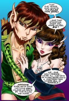 ElfQuest Strongbow & Moonshade #elfquest