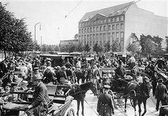 1.WK: Berlin Alltagsbilder - Dichter Verkehr auf dem Reichskanzlerplatz 1918