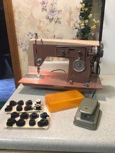 Rare Vintage Pink Kenmore # 47 Auto Zig-Zag Sewing Machine 158.470 JAPAN W/ Cams | eBay