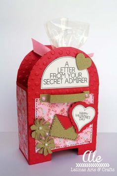 Latinas Arts and Crafts: Reto # 51 de Latinas Arts and . Valentine Box, Valentine Day Crafts, Valentine Decorations, Happy Valentines Day, Holiday Crafts, Diy And Crafts, Crafts For Kids, Arts And Crafts, Paper Crafts