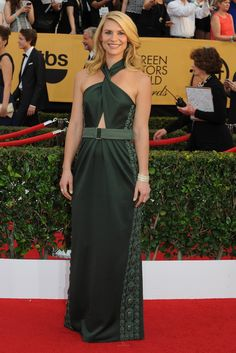 Claire Danes on the SAG Awards Red Carpet. [Photo by Amy Graves]