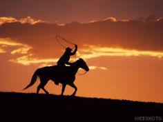 Silhouette of cowboy on horseback near Fairplay, Colorado Photo Canvas Print Cowboy Horse, Cowboy And Cowgirl, Horse Riding, Cowboy Pics, Cowboy Room, Cowboy Images, Cowboy Pictures, Horse Horse, Cowboy Art