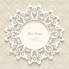 Paper frame with beige background vector 04