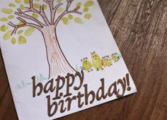Fingerprint birthday card