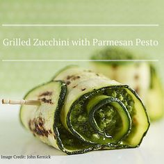 This Grilled Zucchini with Parmesan Pesto will make the perfect snack at your next Holiday party. Ingredients: 1 cup basil leaves 1 small garlic clove 1/4 cup toasted pine nuts 1/2 cup olive oil 3/4 cup grated Parmesan cheese Salt and black pepper to taste 6 zucchini Olive oil Directions: 1. Combine basil leaves garlic and pine nuts in a food processor; pulse until well-blended. 2. Gradually pour in 1/2 cup olive oil and Parmesan cheese; pulse again. The pesto should be very thick. Adjust…